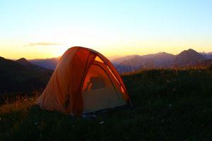 Mit dem Zelt im Bregenzer Wald
